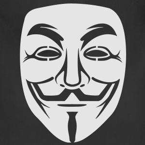 Anonymous/Guy Fawkes mask 1 clr T-Shirts - Adjustable Apron