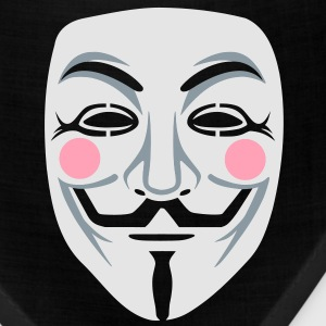 Anonymous/Guy Fawkes mask 3clr Long Sleeve Shirts - Bandana