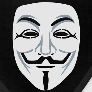 Anonymous/Guy Fawkes mask 2clr Long Sleeve Shirts - Bandana
