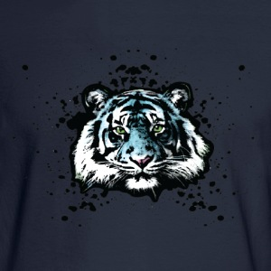 Tiger - Blue Graffiti Graphic Design - Unisex Sweatshirts - Men's Long Sleeve T-Shirt