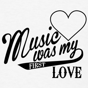 music was my first love Buttons - Men's T-Shirt