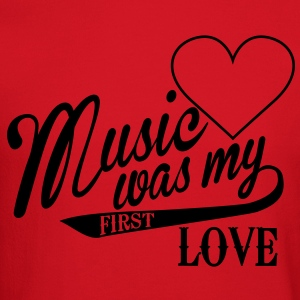 music was my first love Kids' Shirts - Crewneck Sweatshirt