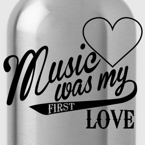 music was my first love Kids' Shirts - Water Bottle