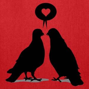 Love saying Doves - Two Valentine Birds 2c T-Shirts - Tote Bag