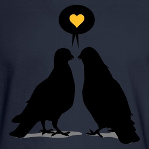 Love saying Doves - Two Valentine Birds 3c Women's T-Shirts - Men's Long Sleeve T-Shirt