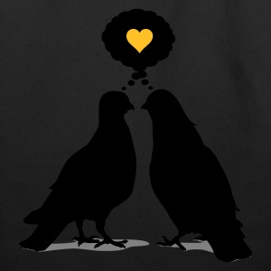 Love thinking  Doves - Two Valentine Birds 3c T-Shirts - Eco-Friendly Cotton Tote