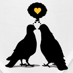 Love thinking  Doves - Two Valentine Birds 3c T-Shirts - Bandana