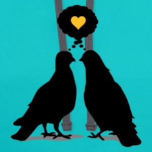 Love thinking  Doves - Two Valentine Birds 3c T-Shirts - Contrast Hoodie