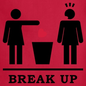 Break up - Broken Heart Lesbian 2c Women's T-Shirts - Adjustable Apron
