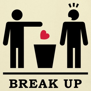 Break up - Broken Heart Boys 2c T-Shirts - Eco-Friendly Cotton Tote