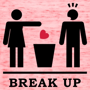 Break up - Broken Heart Man 2c Women's T-Shirts - Women's Flowy Tank Top by Bella