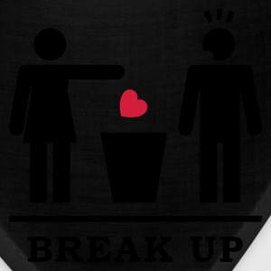 Break up - Broken Heart Man 2c Women's T-Shirts - Bandana