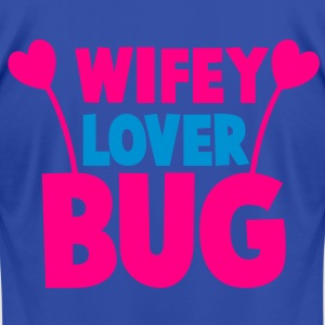 wifey wife lover love bug with cute antennae Hoodies - Men's T-Shirt by American Apparel