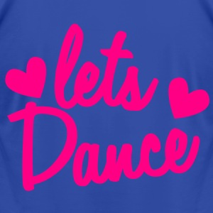 lets dance with cute little love hearts Hoodies - Men's T-Shirt by American Apparel