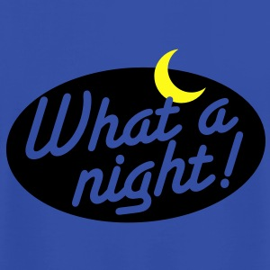 what a night! with a crescent moon Hoodies - Men's T-Shirt by American Apparel