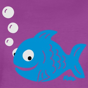Funny Fish with Bubbles Baby Bodysuits - Women's Premium T-Shirt