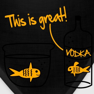 Goldfish Vodka Vector Design Hoodies - Bandana