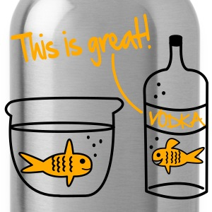 Goldfish Vodka Vector Design Hoodies - Water Bottle