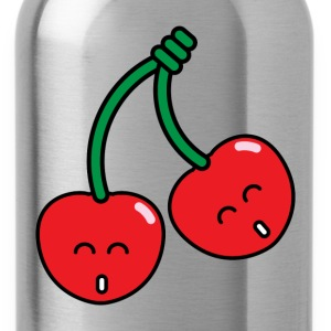 smiling cherry twins - Water Bottle