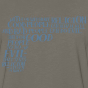 STEVEN WEINBERG quote-cloud by Tai's Tees - Men's Premium Long Sleeve T-Shirt