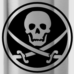 pirate skull emblem Bags  - Water Bottle