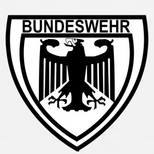 White/black bundeswehr_adler T-Shirts - Men's Premium Tank