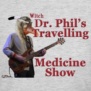 Lady's V - Witch Dr. Phil's Travelling Medicine Show - Women's Long Sleeve Jersey T-Shirt