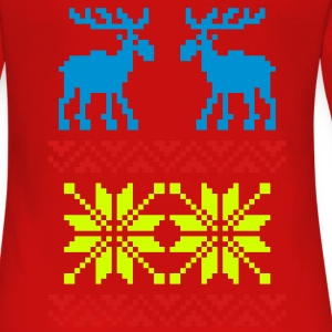 Moose Pattern Christmas Sweater - Women's Premium Long Sleeve T-Shirt