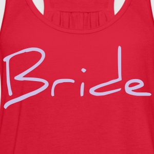 Cool Silver Bride Text Graphic Design for Bachelorette Parties, Hen Party, Stag and Does, Bridal Party and Wedding Showers Women's T-Shirts - Women's Flowy Tank Top by Bella