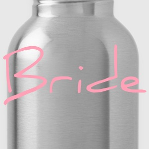 Cool Pink Bride Text Graphic Design for Bachelorette Parties, Hen Party, Stag and Does, Bridal Party and Wedding Showers Women's T-Shirts - Water Bottle