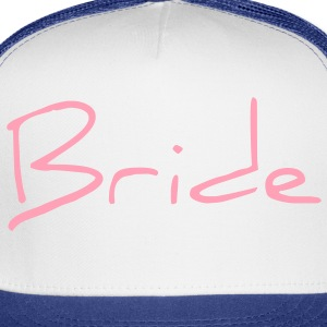 Cool Pink Bride Text Graphic Design for Bachelorette Parties, Hen Party, Stag and Does, Bridal Party and Wedding Showers Women's T-Shirts - Trucker Cap