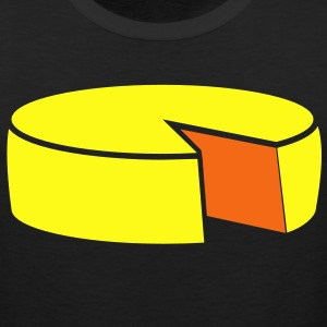 cheese wheel large 2 color Women's T-Shirts - Men's Premium Tank