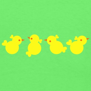Four EASTER chicks Baby Bodysuits - Men's T-Shirt