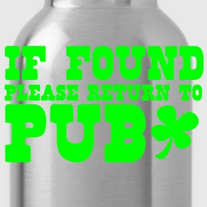 If found please return to PUB! bar  Tanks - Water Bottle