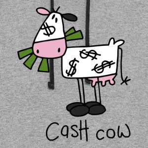 Cash Cow Long Sleeve Shirts - Colorblock Hoodie