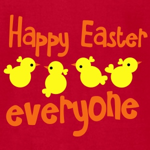 HAPPY EASTER EVERYONE! with little peep chicks chickens Baby Bodysuits - Men's T-Shirt by American Apparel