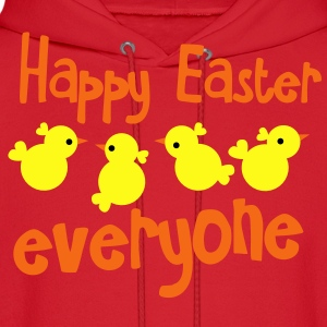 HAPPY EASTER EVERYONE! with little peep chicks chickens Kids' Shirts - Men's Hoodie