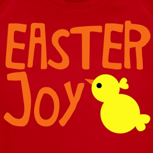 EASTER JOY with cute little chick chicken for the season Kids' Shirts - Short Sleeve Baby Bodysuit
