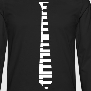Piano Tie - Men's Premium Long Sleeve T-Shirt