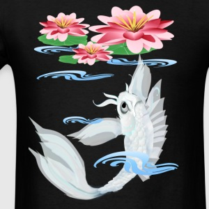 Silver Koi-Pink and Pink Lilies - Men's T-Shirt