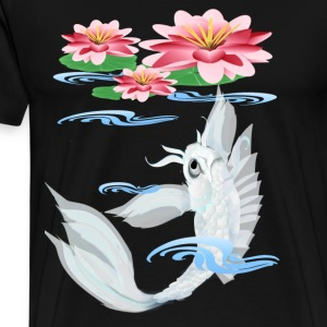 Silver Koi-Pink and Pink Lilies - Men's Premium T-Shirt