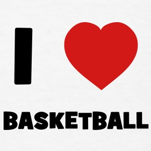 I Love Basketball Baby Bodysuits - Men's T-Shirt