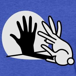 hand shadow rabbit Sweatshirts - Fitted Cotton/Poly T-Shirt by Next Level