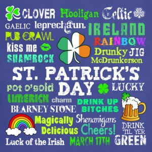 St Pattys Phrases T-Shirts - Adjustable Apron