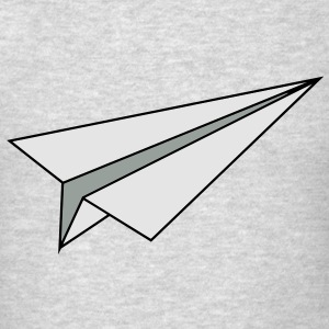 Paper Plane Long Sleeve Shirts - Men's T-Shirt