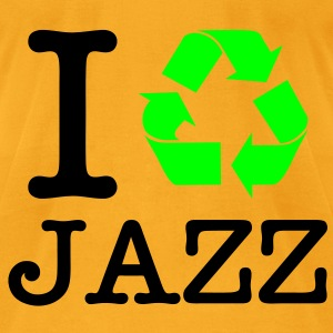 I Recycle Jazz Bags  - Men's T-Shirt by American Apparel