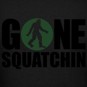 Gone Squatchin' Spotlight (Glow In The Dark) - Hoodie - Men's T-Shirt