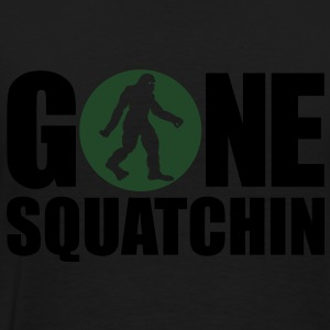 Gone Squatchin' Spotlight (Glow In The Dark) - Hoodie - Men's Premium T-Shirt