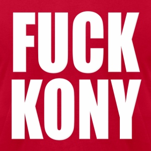 Fuck Kony Hoodies - Men's T-Shirt by American Apparel