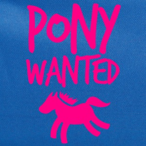 pony wanted with type T-Shirts - Computer Backpack